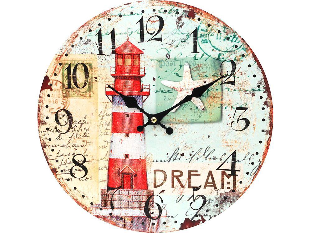 Часы настенные «Маяк»Дизайнерские настенные часы<br><br><br>Артикул: 125-CL<br>Размер: 34 см (диаметр)