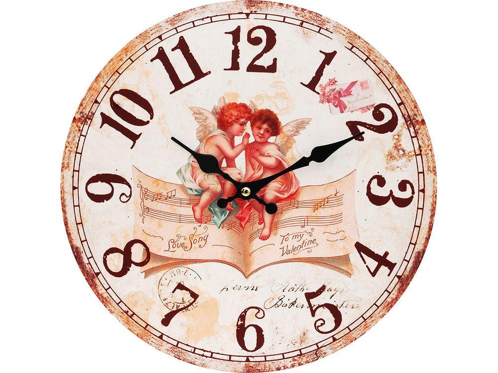 Часы настенные «Музыка ангелов»Дизайнерские настенные часы<br><br><br>Артикул: 127-CL<br>Размер: 34 см (диаметр)