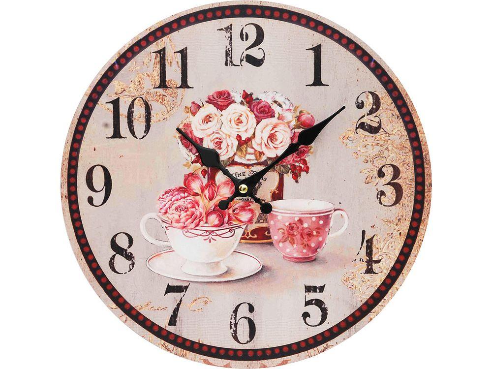 Часы настенные «Розы»Дизайнерские настенные часы<br><br><br>Артикул: 130-CL<br>Размер: 34 см (диаметр)