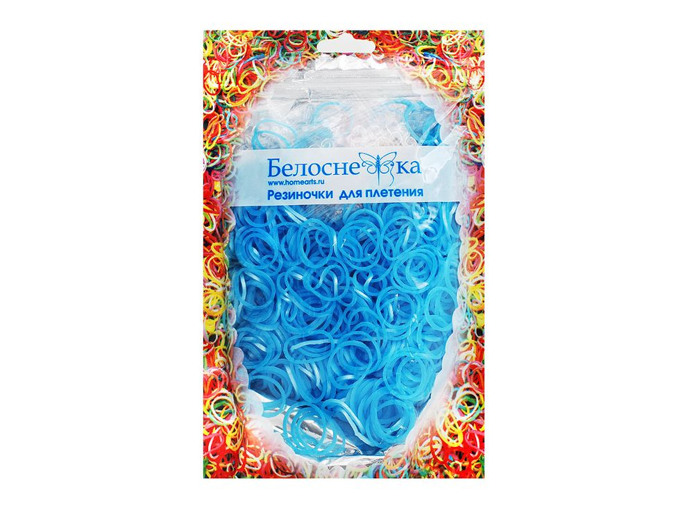 Резиночки для плетения металликРезинки для плетения<br><br><br>Артикул: 131-RB<br>Цвет: Голубой<br>Количество резинок шт: 1000