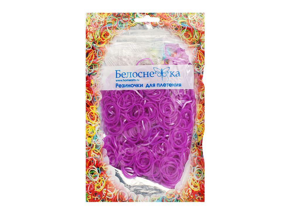 Резиночки для плетения металликРезинки для плетения<br><br><br>Артикул: 132-RB<br>Цвет: Сиреневый<br>Количество резинок шт: 1000