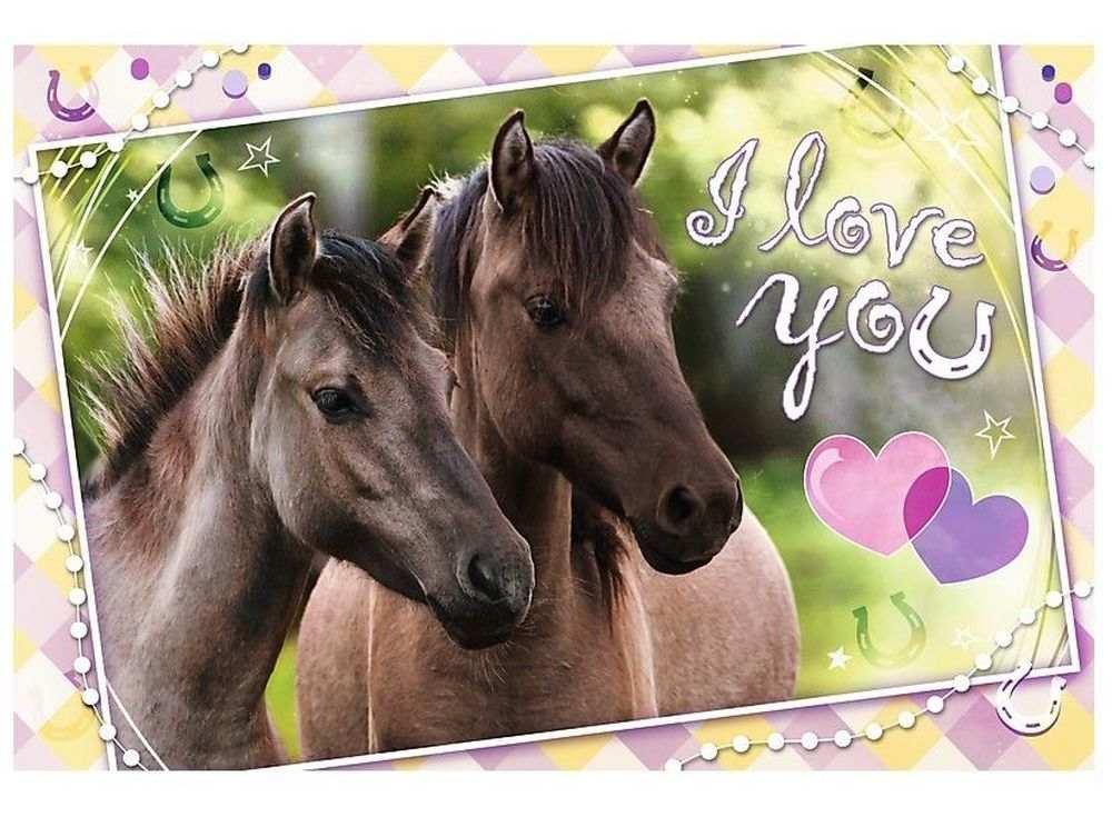 Пазлы «Любим лошадей»Trefl<br><br><br>Артикул: 13213<br>Размер: 60x40 см