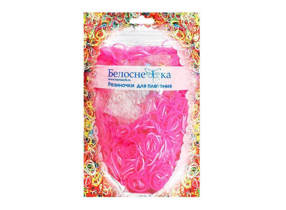 Резиночки для плетения металликРезинки для плетения<br><br><br>Артикул: 133-RB<br>Цвет: Светло-розовый<br>Количество резинок шт: 1000