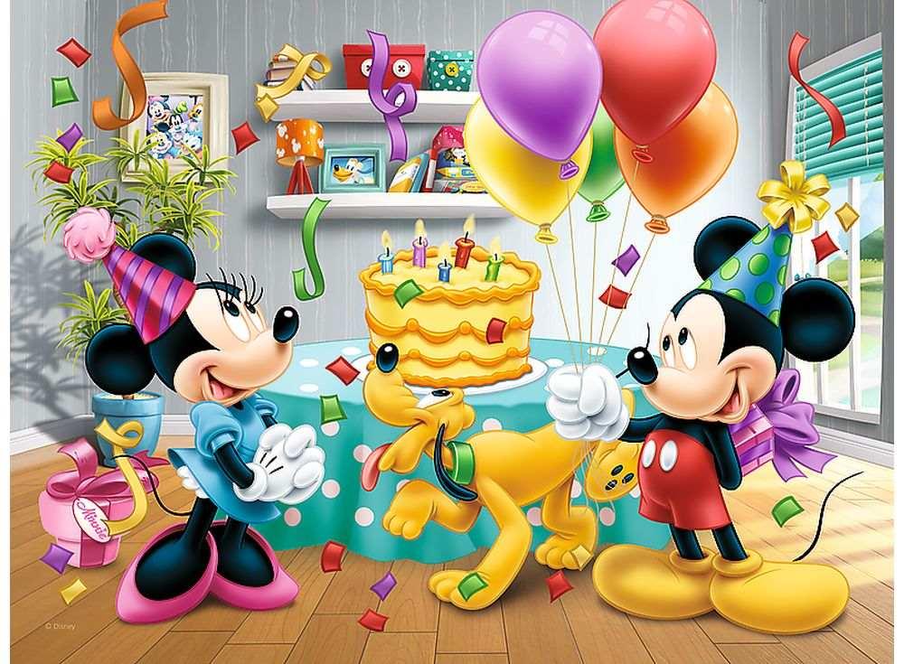 Открытка с днем рождения с микимаусом