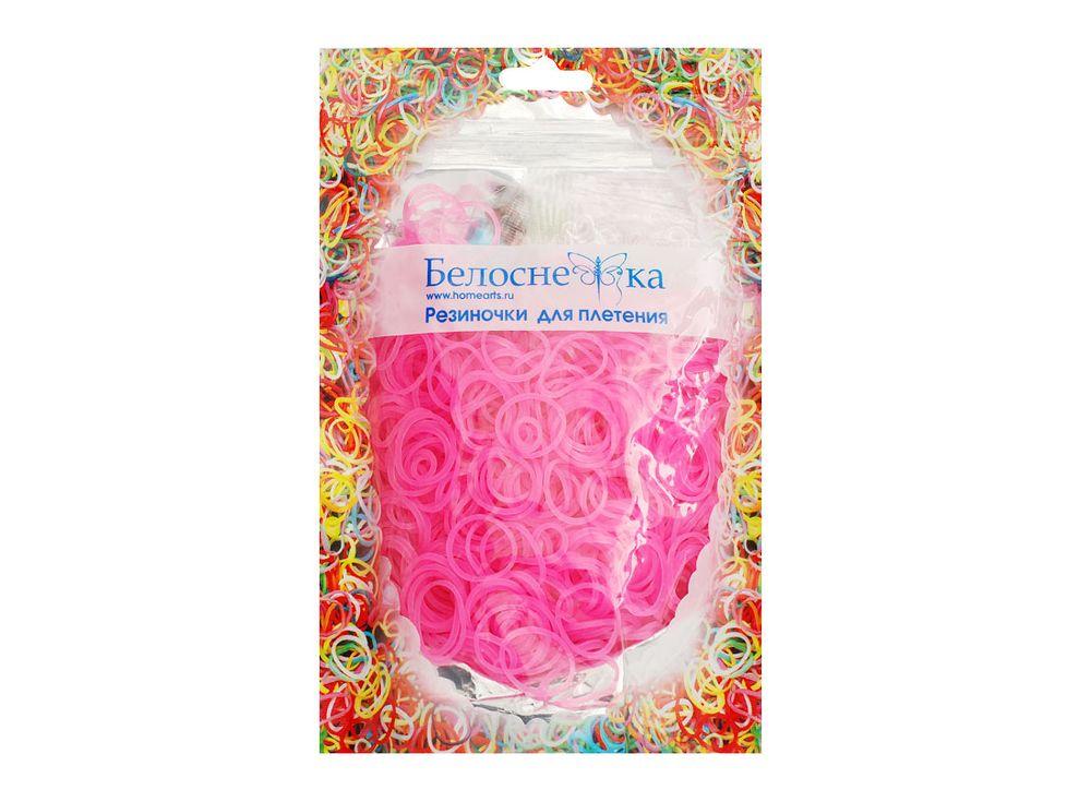 Резиночки для плетения неоновыеРезинки для плетения<br><br><br>Артикул: 211-RB<br>Цвет: Светло-розовый<br>Количество резинок шт: 1000