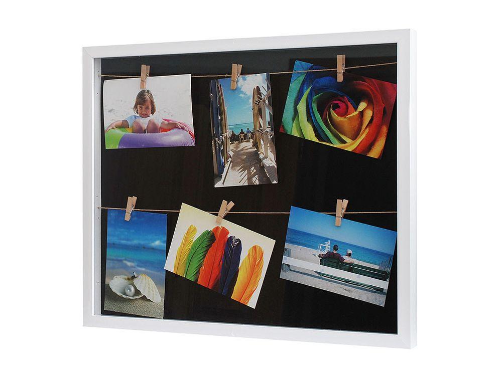 Фоторамка комбинированная белаяФоторамки<br><br><br>Артикул: 220-BF<br>Размер: 50x41,5x3 см<br>Цвет: Белый<br>Материал: Пластик, стекло