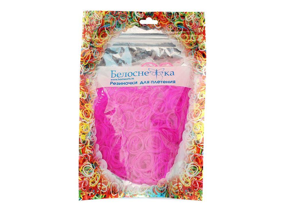 Резиночки для плетения с блесткамиРезинки для плетения<br><br><br>Артикул: 234-RB<br>Цвет: Розовый<br>Количество резинок шт: 1000