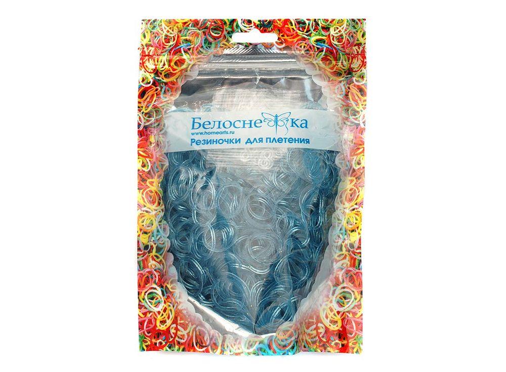 Резиночки для плетения с блесткамиРезинки для плетения<br><br><br>Артикул: 238-RB<br>Цвет: Голубой<br>Количество резинок шт: 1000