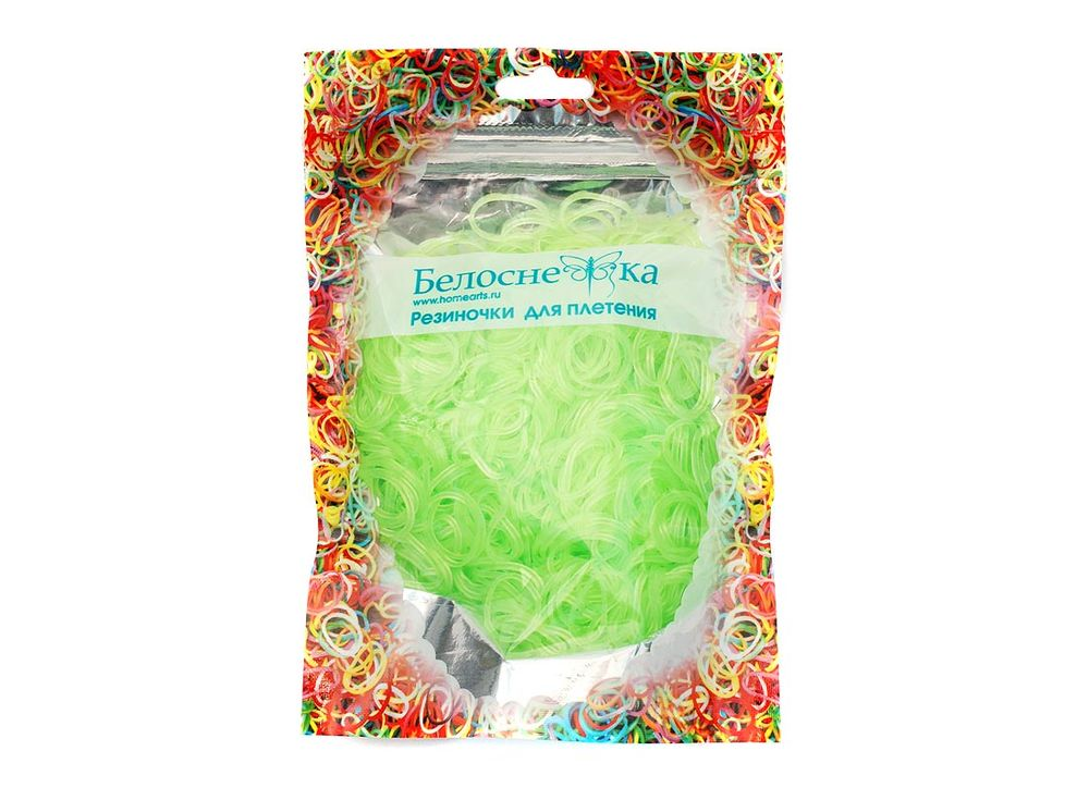 Резиночки для плетения неоновыеРезинки для плетения<br><br><br>Артикул: 274-RB<br>Цвет: Светло-зеленый<br>Количество резинок шт: 1000