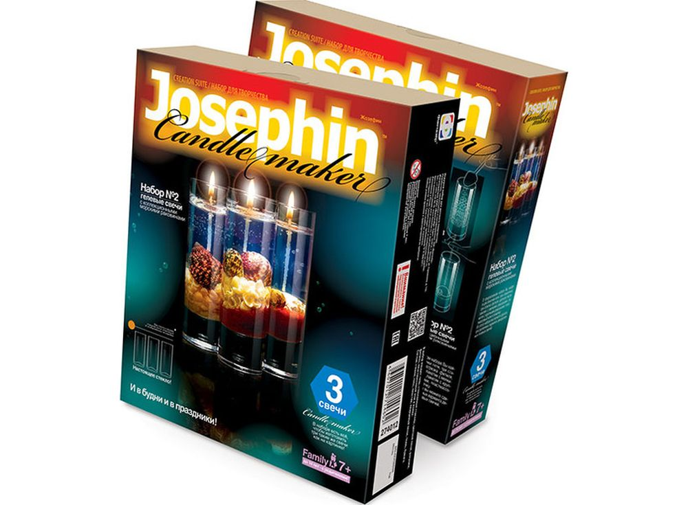 Гелевые свечи с ракушками «Набор №2»Гелевые свечи своими руками<br><br><br>Артикул: 274012<br>Размер упаковки: 22x18,5x 5 см