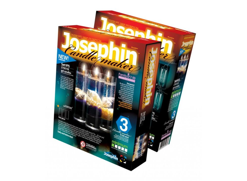 Гелевые свечи с ракушками «Набор №5»Гелевые свечи своими руками<br><br><br>Артикул: 274015<br>Размер упаковки: 22x18,5x 5 см<br>Возраст: от 7 лет