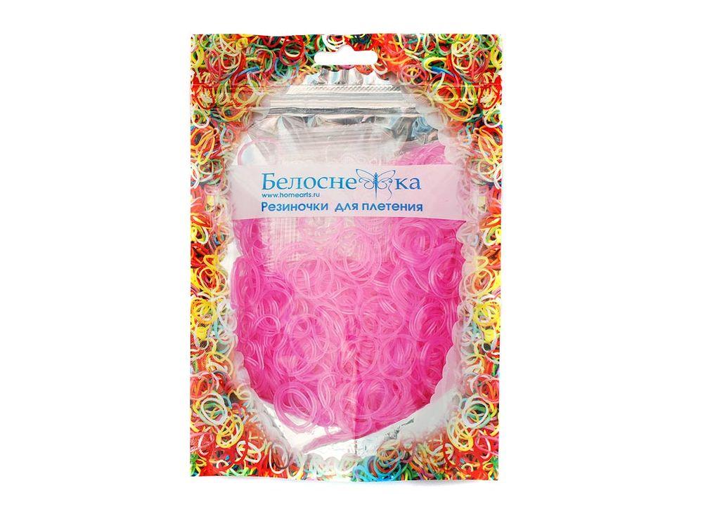 Резиночки для плетения неоновыеРезинки для плетения<br><br><br>Артикул: 282-RB<br>Цвет: Розовый<br>Количество резинок шт: 1000