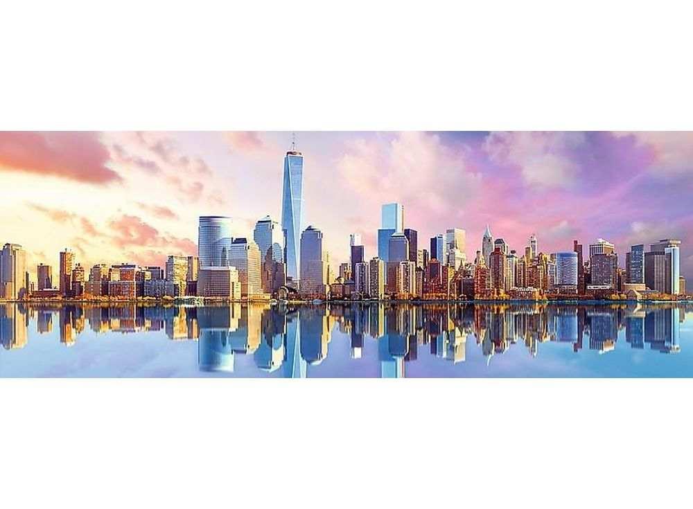 Пазлы «Манхеттен»Trefl<br><br><br>Артикул: 29033<br>Размер: 97x34 см