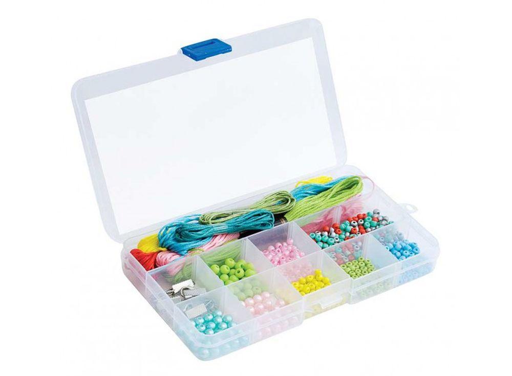Набор для плетения «Весёлые пятнашки» (в органайзере)Наборы для создания украшений<br><br><br>Артикул: 292-RB<br>Размер: 17,2x10,4x2,5 см