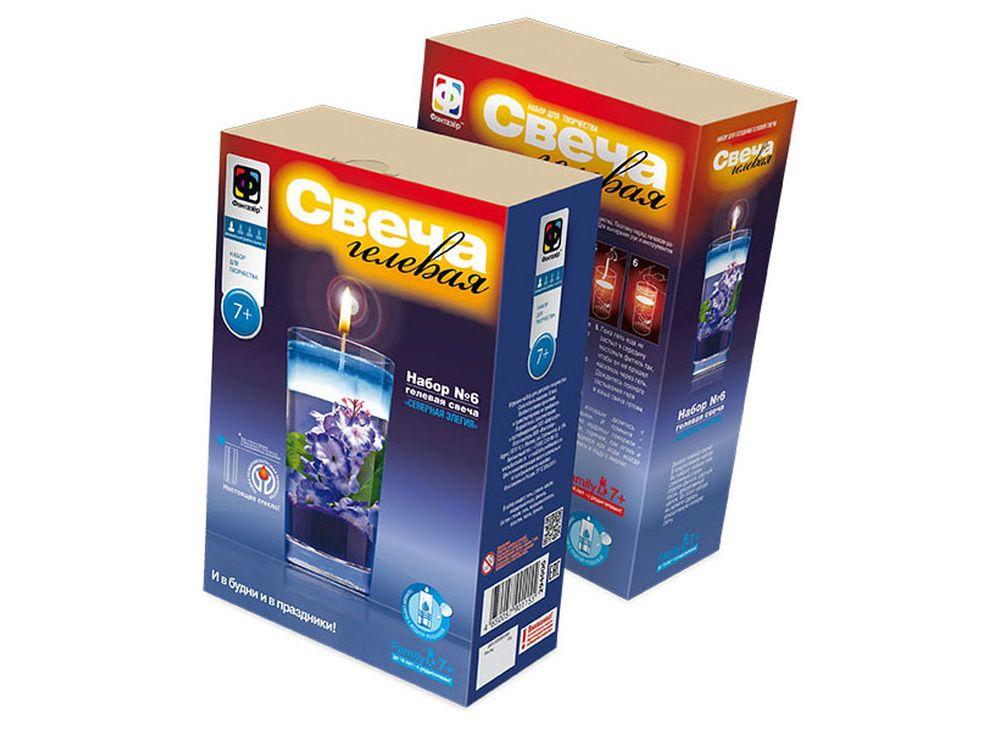 Свеча гелевая «Северная эллегия»Гелевые свечи своими руками<br><br><br>Артикул: 294006<br>Размер упаковки: 22x18,5x 5 см