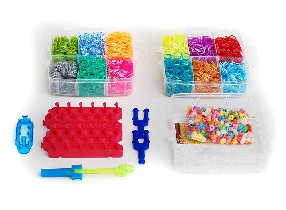 Набор резиночек «Прелесть Ассорти»Резинки для плетения<br><br><br>Артикул: 342-RB<br>Размер: 15x15x12,5 см<br>Количество резинок шт: 4800