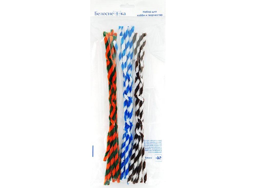 Пушистая проволока Шенил спираль, 3 цветаФурнитура для игрушек<br><br><br>Артикул: 354-PM<br>Размер: 6x300 мм<br>Количество: 3 цвета по 10 шт.<br>Материал: Проволока, полиэстер