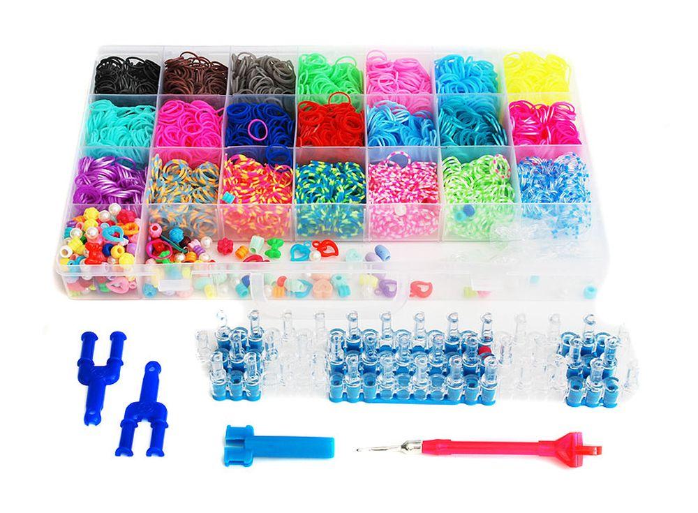 Набор резиночек «Фантазия»Резинки для плетения<br><br><br>Артикул: 365-RB<br>Размер: 34,5x21,5x4,3 см<br>Количество резинок шт: 5250