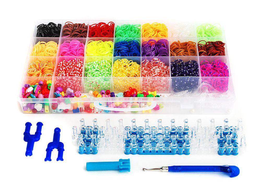 Набор резиночек «Фантазия Микс»Резинки для плетения<br><br><br>Артикул: 366-RB<br>Размер: 34,5x21,5x4,3 см<br>Количество резинок шт: 5250