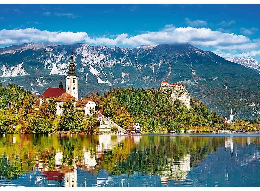 Пазлы «Блед, Словения»Trefl<br><br><br>Артикул: 37259<br>Размер: 48x34 см