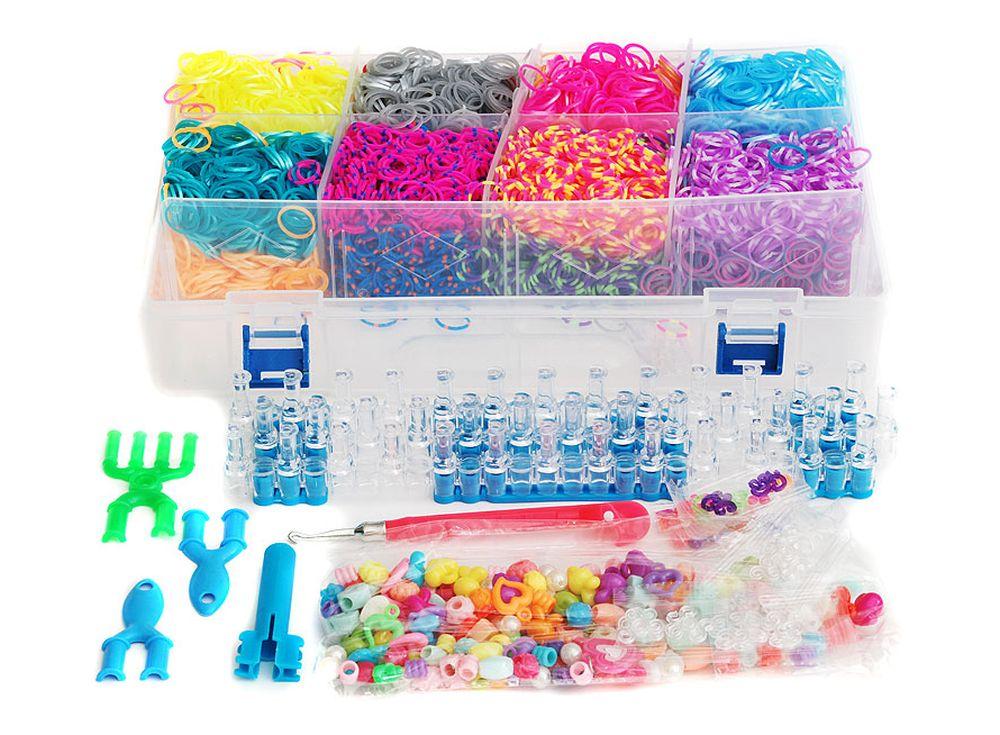Набор резиночек «Большой карнавал»Резинки для плетения<br><br><br>Артикул: 393-RB<br>Размер: 30x20x6,3 см<br>Количество резинок шт: 8000