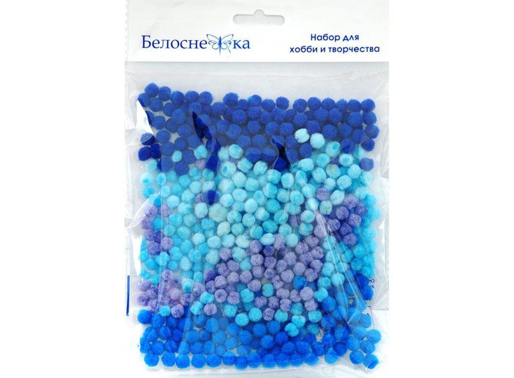 Декоративные помпоны, 5 цветовФурнитура для игрушек<br><br><br>Артикул: 404-PM<br>Размер: 5 мм<br>Количество: 5 цветов по 100 шт.<br>Материал: Искусственное волокно