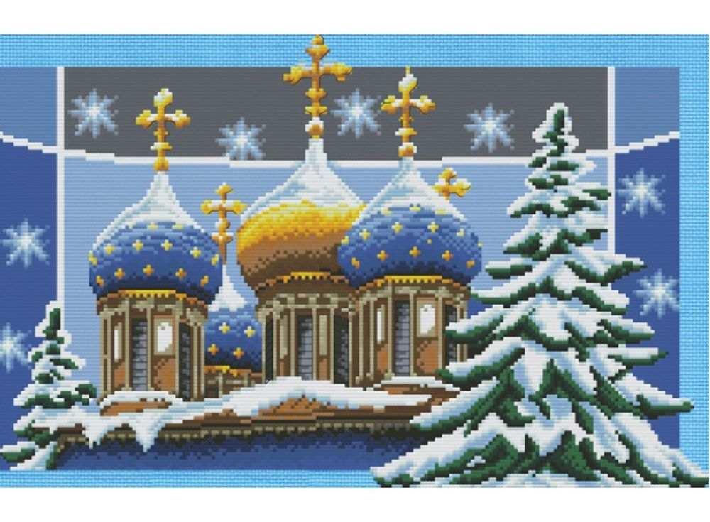 Набор для вышивания «Рождественские купола»Белоснежка<br><br><br>Артикул: 4126-14<br>Основа: канва Aida 14<br>Сложность: сложные<br>Размер: 44x32 см<br>Техника вышивки: счетный крест<br>Тип схемы вышивки: Цветная схема<br>Цвет канвы: Голубой<br>Количество цветов: 30<br>Рисунок на канве: не нанесён<br>Техника: Вышивка крестом