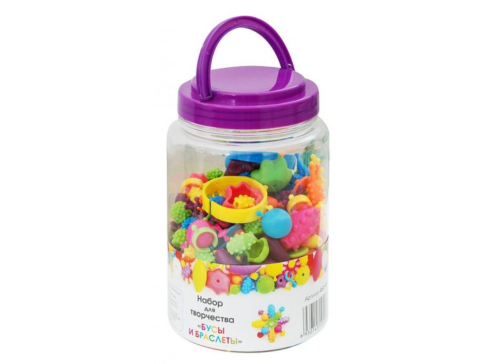 Набор для творчества «Бусы и браслеты»Наборы для создания украшений<br>Набор для творчества - отличный подарок для детей. Множество разнообразных заготовок для бус и браслетов предназначены для создания эксклюзивных украшений. Вместе со взрослыми дети смогут смастерить забавные украшения для себя или для кукол, дополнить мас...<br><br>Артикул: 453-RB<br>Размер: 17,5x11 см