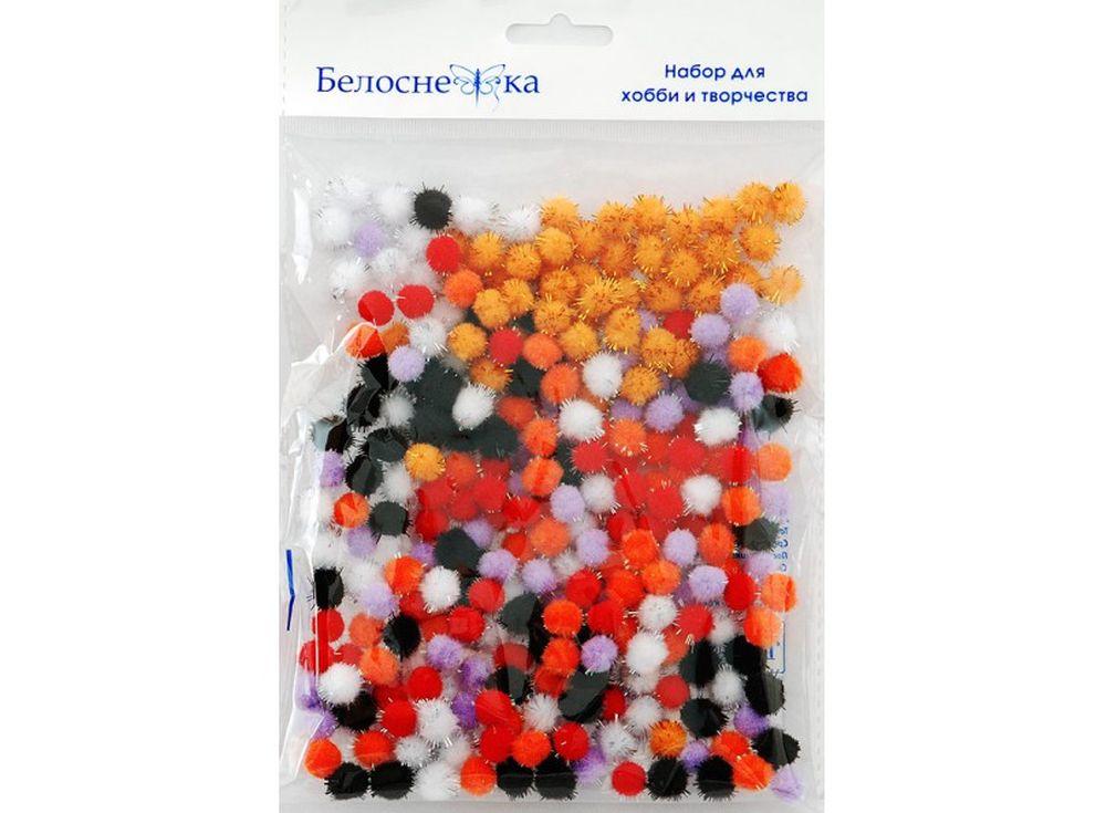 Декоративные помпоны блестящие, 6 цветовФурнитура для игрушек<br><br><br>Артикул: 462-PM<br>Размер см: 10 мм<br>Количество: 6 цветов по 45 шт.<br>Материал: Искусственное волокно