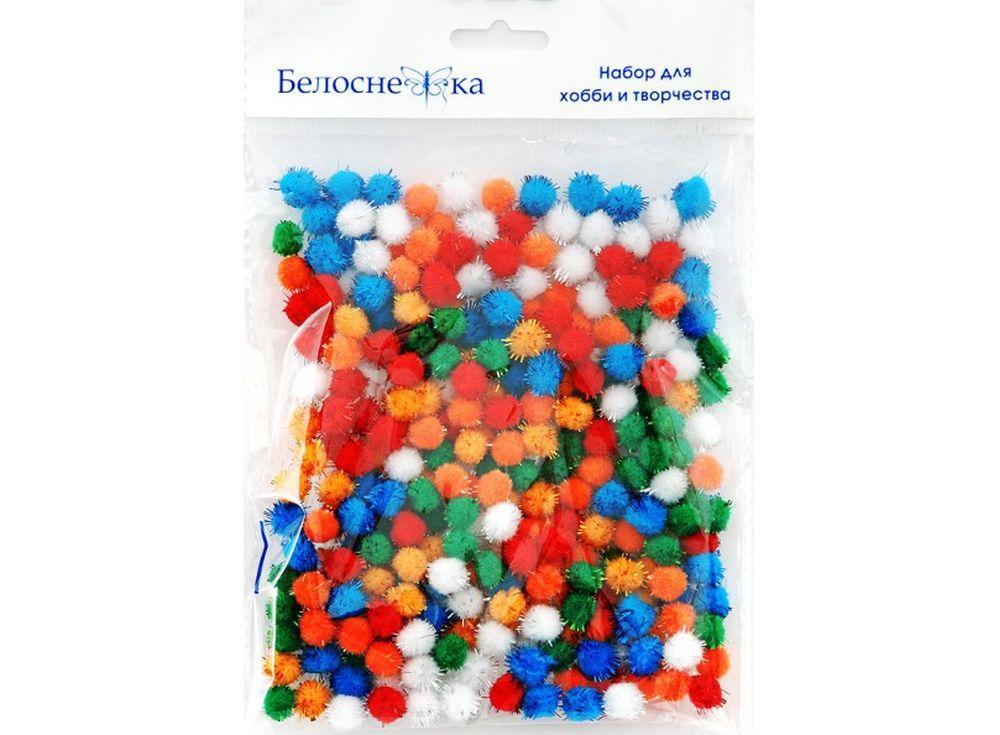 Декоративные помпоны блестящие, 6 цветовФурнитура для игрушек<br><br><br>Артикул: 463-PM<br>Размер: 10 мм<br>Количество: 6 цветов по 45 шт.<br>Материал: Искусственное волокно