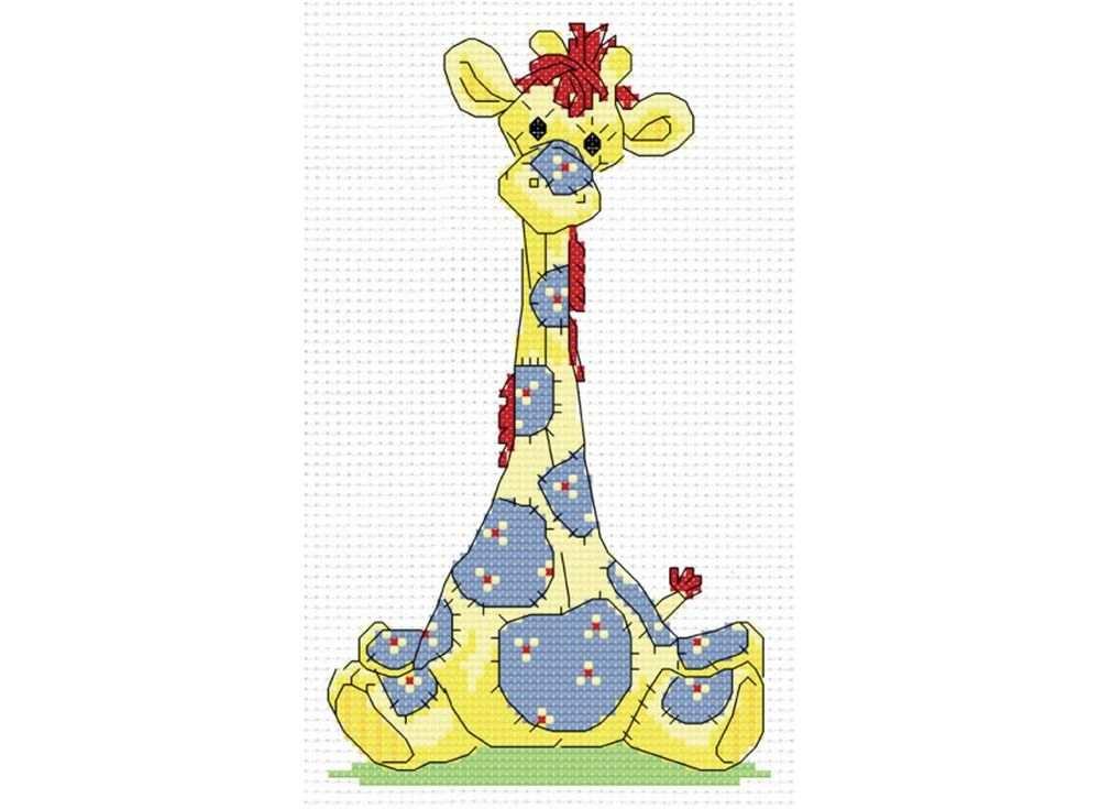 Набор для вышивания «Жирафик»Белоснежка<br><br><br>Артикул: 557-14<br>Основа: канва Aida 14<br>Сложность: средние<br>Размер: 21x29 см<br>Техника вышивки: счетный крест<br>Тип схемы вышивки: Цветная схема вышивки<br>Цвет канвы: Белый<br>Количество цветов: 7