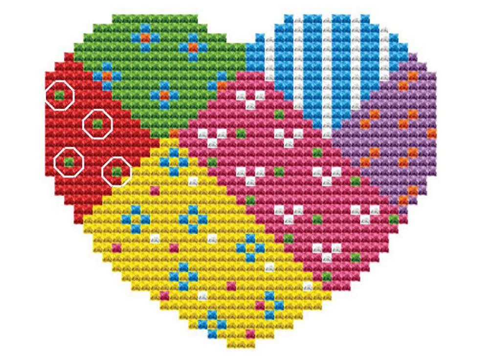 Брелок «Сердце»Белоснежка<br><br><br>Артикул: В-6209<br>Основа: канва Aida 18<br>Сложность: очень легкие<br>Размер: 9x7 см<br>Техника вышивки: счетный крест<br>Тип схемы вышивки: Цветная схема<br>Цвет канвы: Белый<br>Рисунок на канве: не нанесён<br>Техника: Вышивка брелков