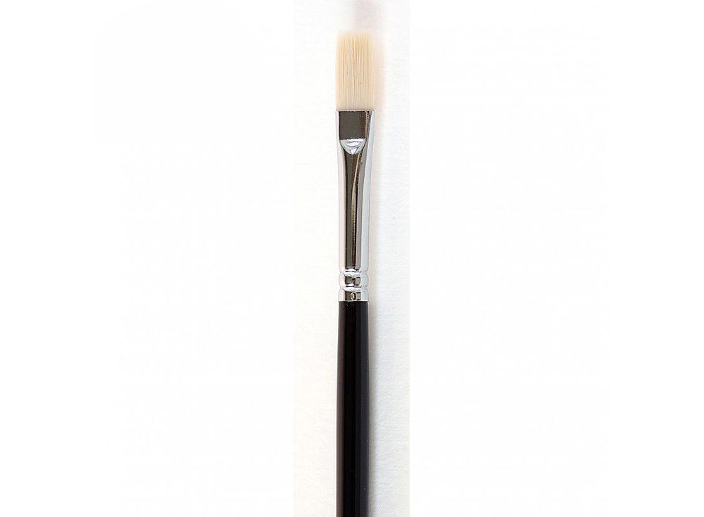 Кисть синтетическая «Зима» плоская №6Аксессуары для рисования картин по номерам<br>Кисть Малевичъ (серия «Зима») - имеет в меру жесткий и упругий волос. Может быть использована для работы над картиной акриловыми или масляными красками.<br> <br> Длина ручки: 18 см <br> Обойма: цельнотянутая, диаметром 7 мм, с двойной обжимкой и антикоррозийным...<br><br>Артикул: 710006