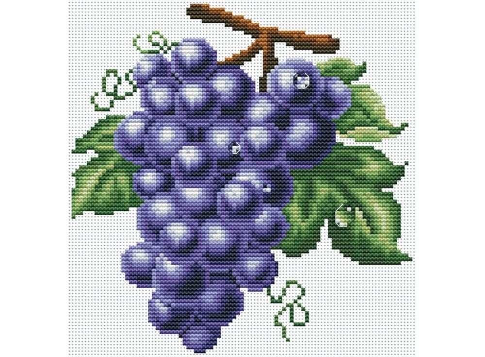 Набор для вышивания «Гроздь винограда»Белоснежка<br><br><br>Артикул: 738-14<br>Основа: канва Aida 14<br>Сложность: средние<br>Размер: 27x31 см<br>Техника вышивки: счетный крест<br>Тип схемы вышивки: Цветная схема<br>Количество крестиков: 89x91<br>Цвет канвы: Белый<br>Размер вышитой работы: 16x16,5 см<br>Количество цветов: 18<br>Рисунок на канве: не нанесён<br>Техника: Вышивка крестом