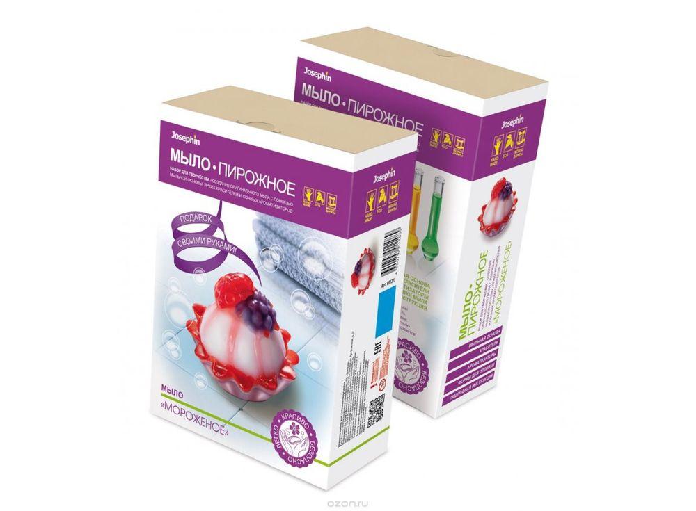 Мыло-пирожное «Мороженое»Мыло своими руками<br><br><br>Артикул: 981203<br>Размер упаковки: 22,2x15,3x7,3 см<br>Возраст: от 10 лет