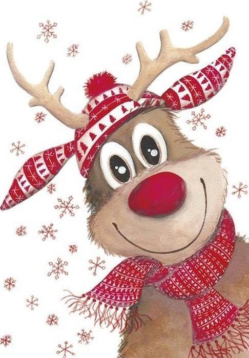 Стразы «Рождественский олень»Алмазная вышивка Гранни<br><br><br>Артикул: Ag6006<br>Основа: Холст без подрамника<br>Сложность: средние<br>Размер: 19x27 см<br>Выкладка: Полная<br>Количество цветов: 21<br>Тип страз: Квадратные