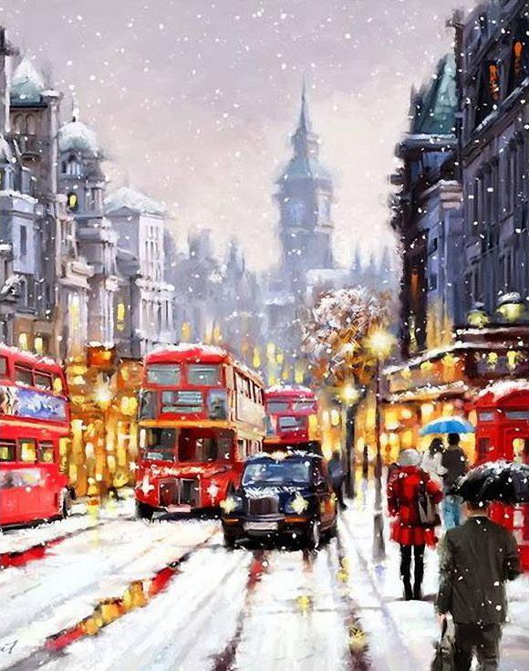 Алмазная вышивка «Декабрь в городе» Ричарда МакнейлаАлмазная вышивка<br><br>