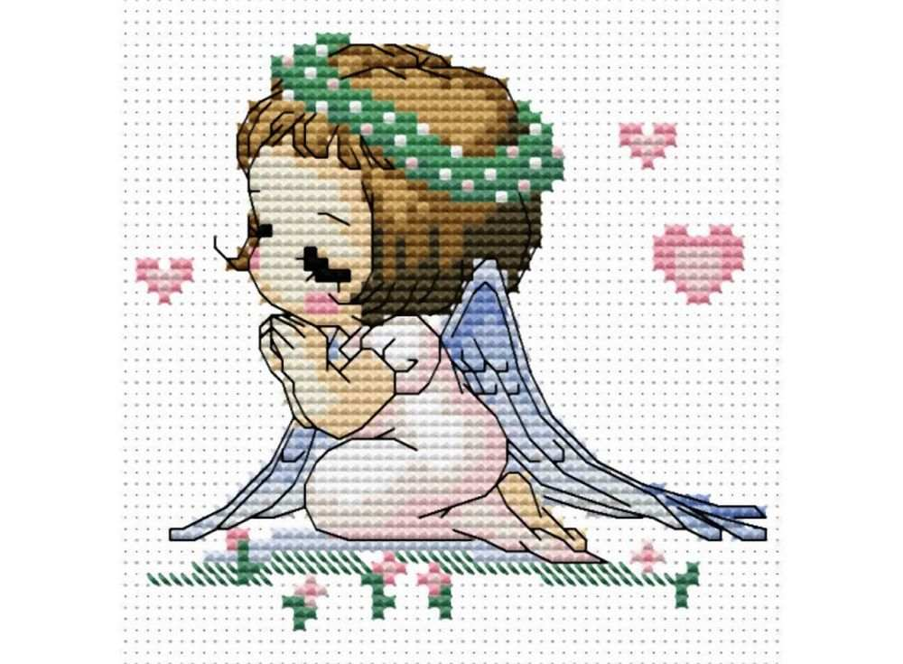 Набор для вышивки крестиком ангелочки