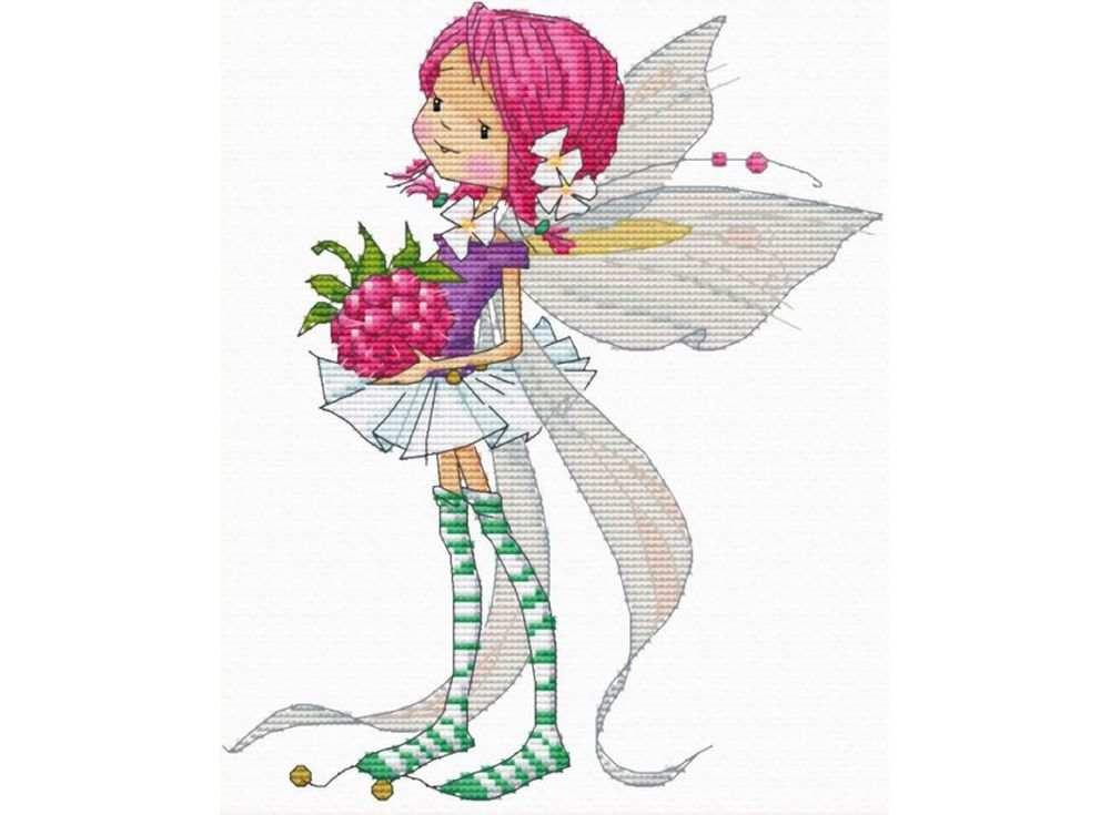 Набор для вышивания «Феечка с малиной» Марины ФедотовойВышивка крестом<br><br>