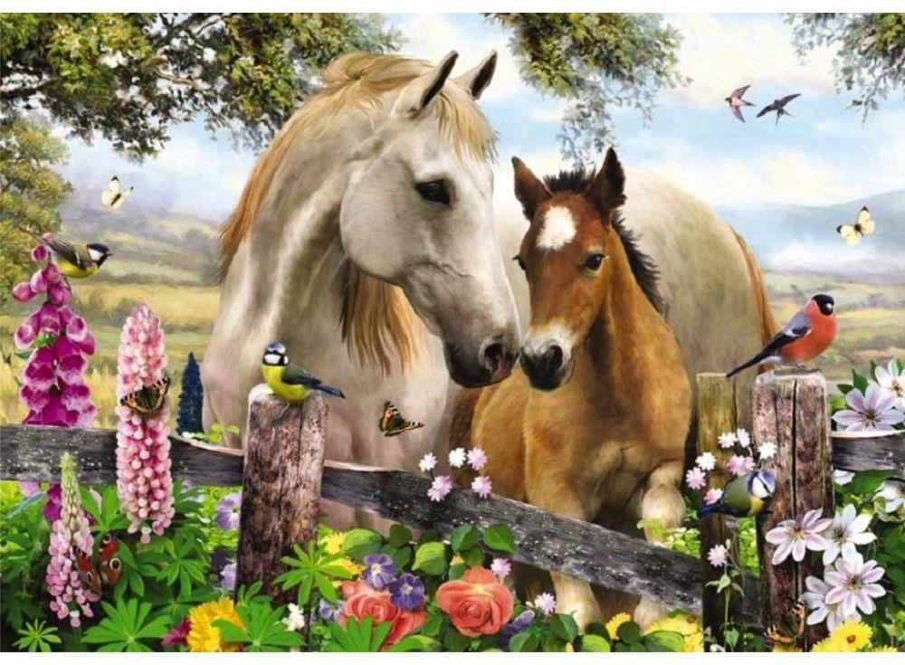 Пазлы «Лошади»Пазлы от производителя Castorland<br><br><br>Артикул: B27309<br>Размер: 32x23 см