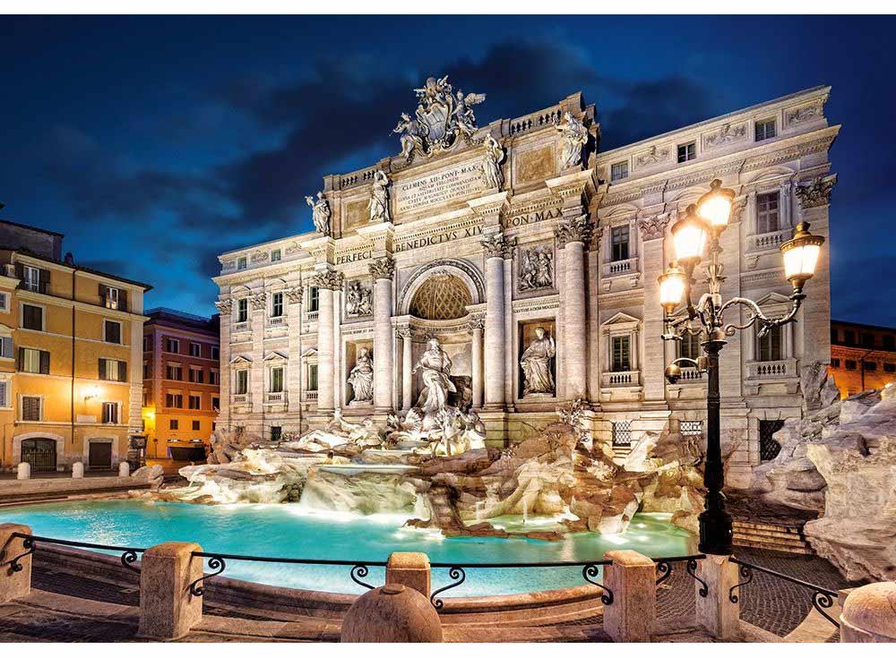 Пазлы «Фонтан де Треви, Рим»Пазлы от производителя Castorland<br><br><br>Артикул: B52332<br>Размер: 47x33 см