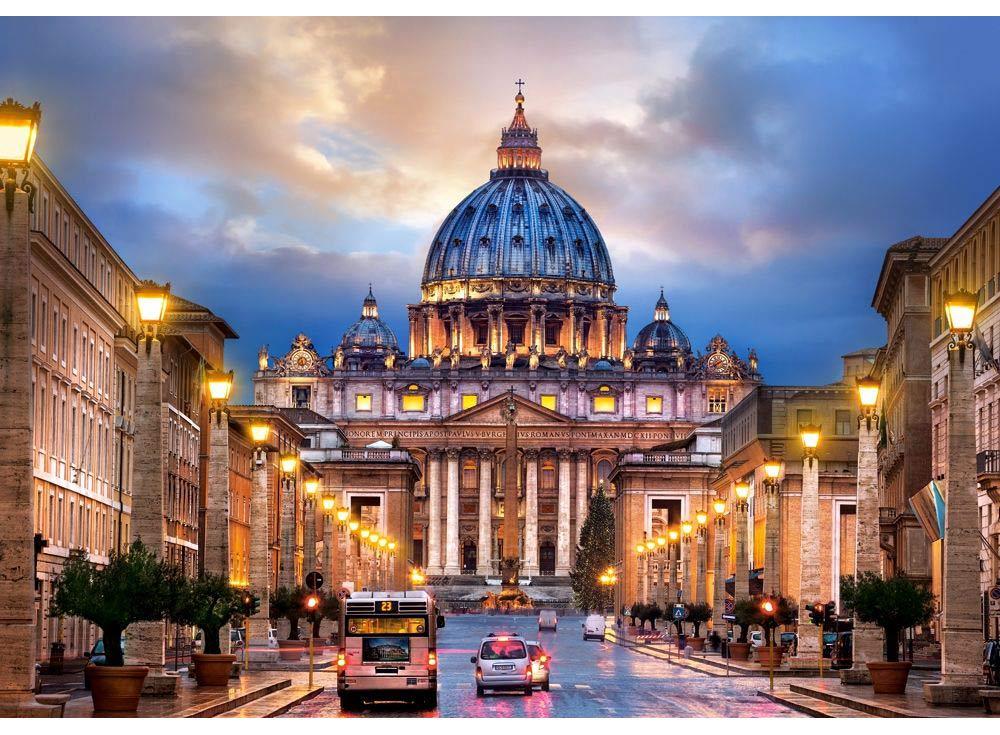 Пазлы «Собор Св. Петра, Рим»Пазлы от производителя Castorland<br><br><br>Артикул: B52349<br>Размер: 47x33 см