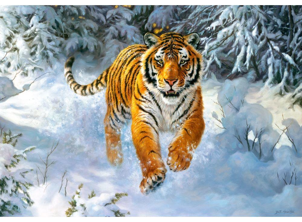 Пазлы «Сибирский император»Пазлы от производителя Castorland<br><br><br>Артикул: B52400<br>Размер: 47x33 см