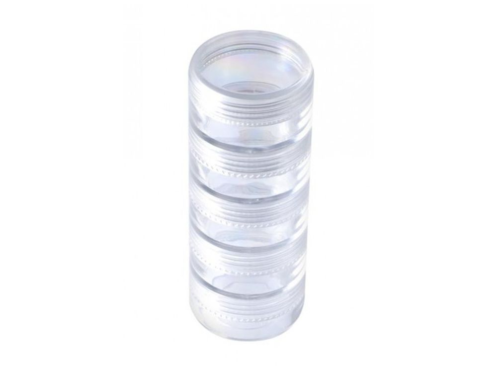 Органайзер для бисера, 5 отд.Аксессуары для алмазной живописи<br><br><br>Артикул: BO-051<br>Размер: 3,8 x10 см