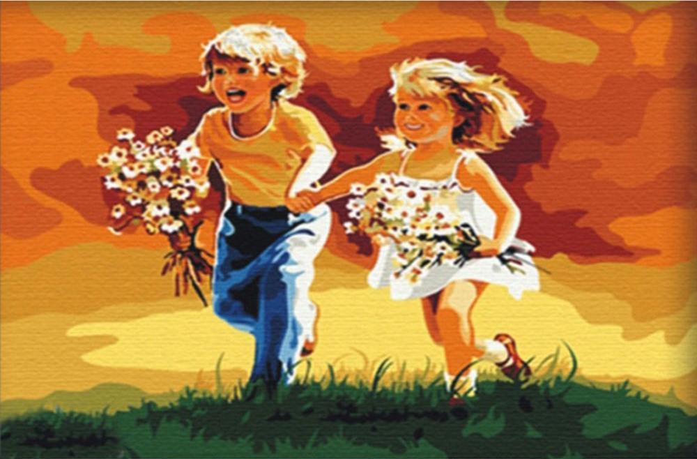 Алмазная вышивка «Детство» Дональда ЗоланаАлмазная вышивка Color Kit (Колор Кит)<br><br>