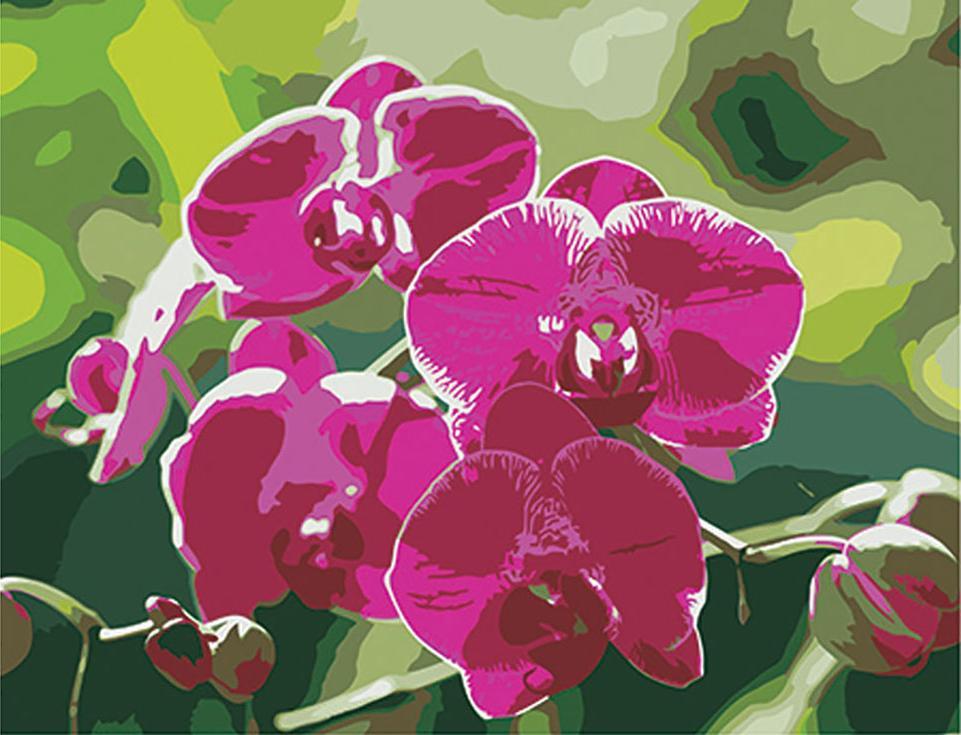 Стразы «Ветка орхидеи»Алмазная вышивка Color Kit (Колор Кит)<br><br><br>Артикул: CK064<br>Основа: Холст на подрамнике<br>Сложность: сложные<br>Размер: 40x50 см<br>Выкладка: Частичная<br>Количество цветов: 12<br>Тип страз: Круглые прозрачные (стеклянные)