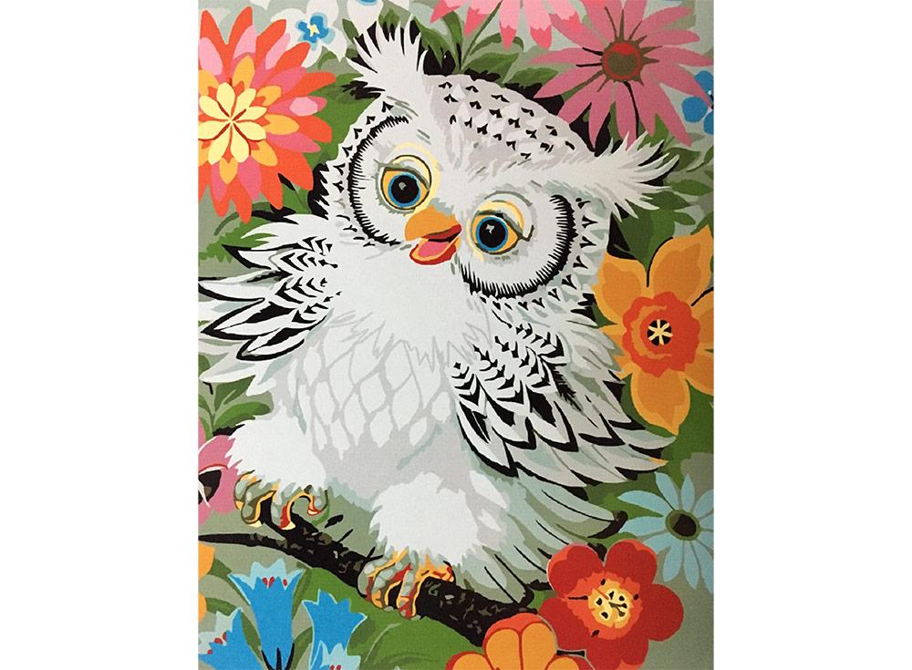«Белый совенок»Paintboy (Premium)<br><br><br>Артикул: GX3045<br>Основа: Холст<br>Сложность: легкие<br>Размер: 40x50 см<br>Количество цветов: 19<br>Техника рисования: Без смешивания красок