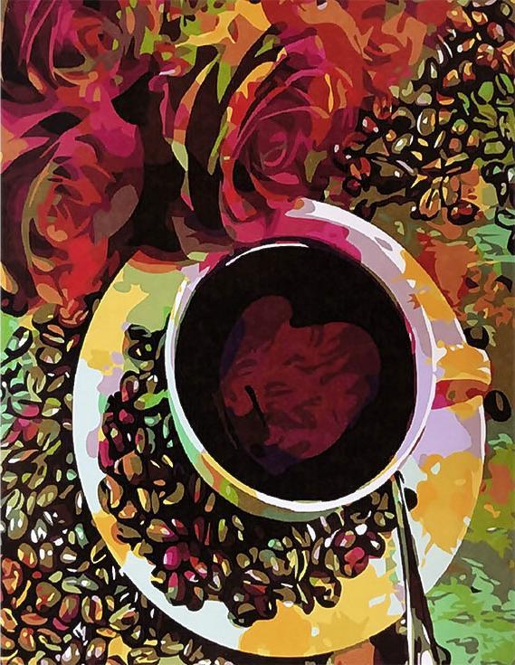 «Цветной кофе»Paintboy (Premium)<br><br><br>Артикул: GX3093<br>Основа: Холст<br>Сложность: легкие<br>Размер: 40x50 см<br>Количество цветов: 26<br>Техника рисования: Без смешивания красок
