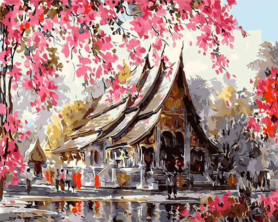 Картина по номерам «Тайский храм» Танакорна ЧаиджиндыPaintboy (Premium)<br><br><br>Артикул: GX3259<br>Основа: Холст<br>Сложность: сложные<br>Размер: 40x50 см<br>Количество цветов: 25<br>Техника рисования: Без смешивания красок