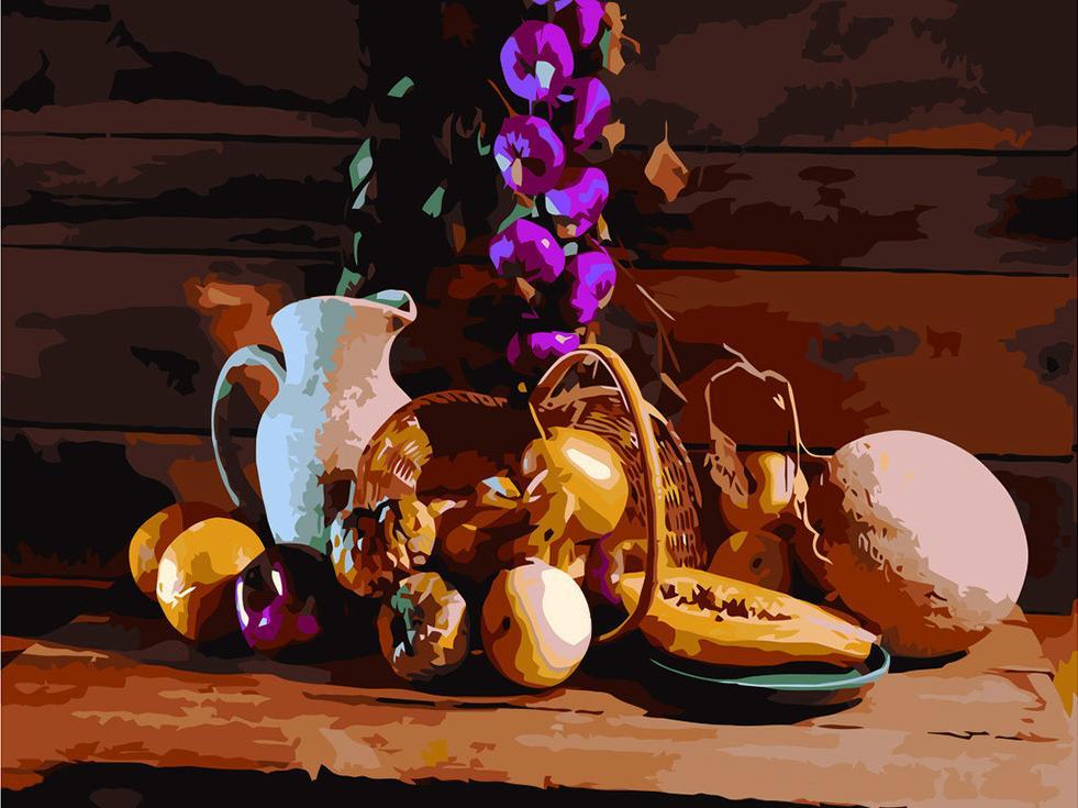 Картина по номерам «Деревенский натюрморт»Раскраски по номерам<br><br>